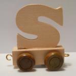 """Buchstabenzug Holzbuchstabe """"S"""""""