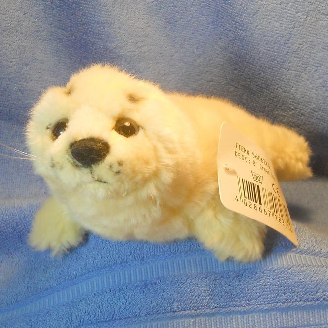 Seehund klein, cremefarben