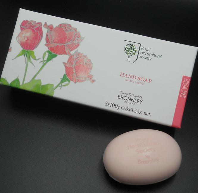 Bronnley RHS Rose Hand Soap 3 x 100 g
